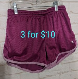 Champion mesh shorts pink xs 3for10